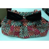 African Print Black Bow Millie Bag