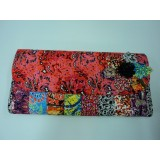 African Print Peach Splash Star Selina Clutch