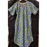African print dress - Green and Purple Coral