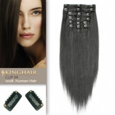 REMY Human Hair SOFT Hair Clip In Extension 22 inch STRAIGHT