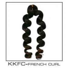 Synthetic BRAIDING Kanekalon French Curl BLACK ONLY