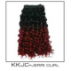 Synthetic Weave Kanekalon Diamond Curls BLACK/BURGUNDY ONLY